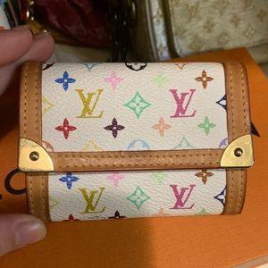 Louis Vuitton multicolor coin purse